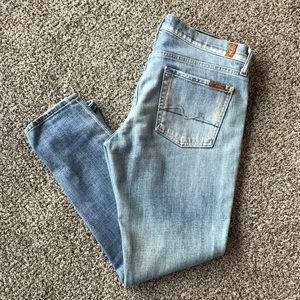 7 for All Mankind Boyfriend Style Cropped Jeans